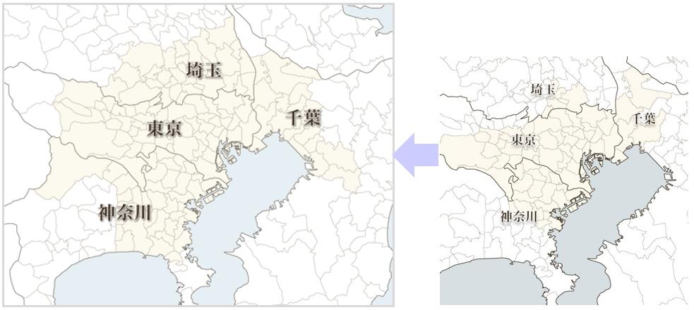 東京都・埼玉県・神奈川県・千葉県
