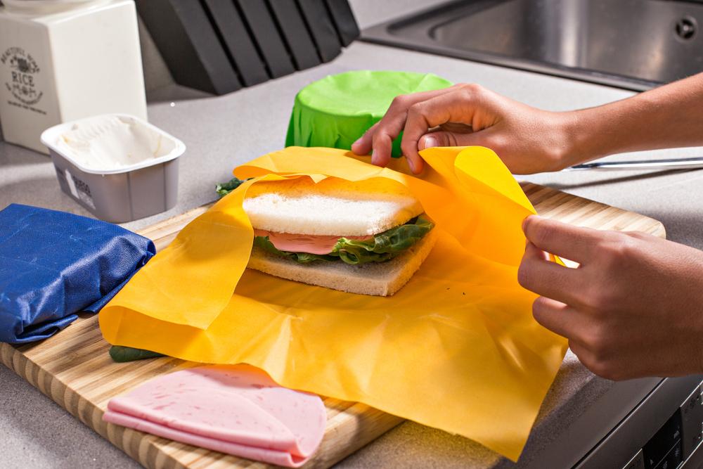 ミツロウラップ-サンドウイッチ