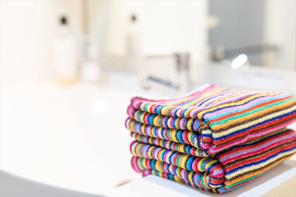 色とりどりのタオル