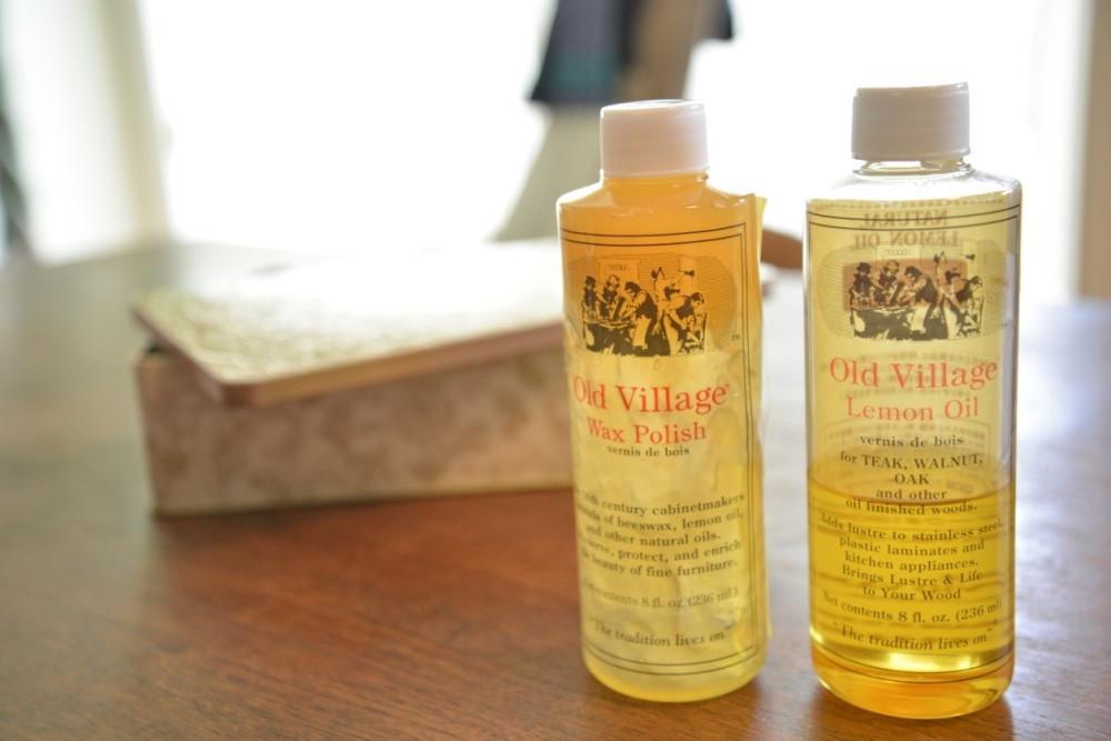 蜜蠟ワックスとレモンオイル