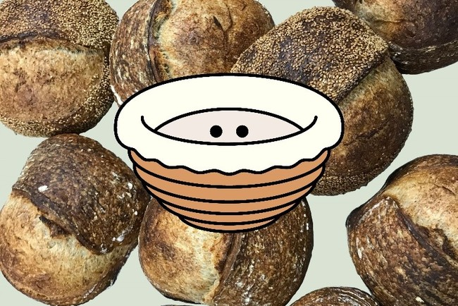 Parklet Bakeryのアイコンとパン